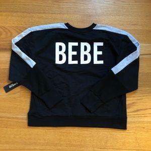 BEBE black and grey sweatshirt